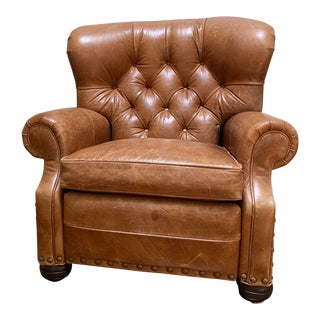Ethan Allen Leather Recliner Chair For Sale