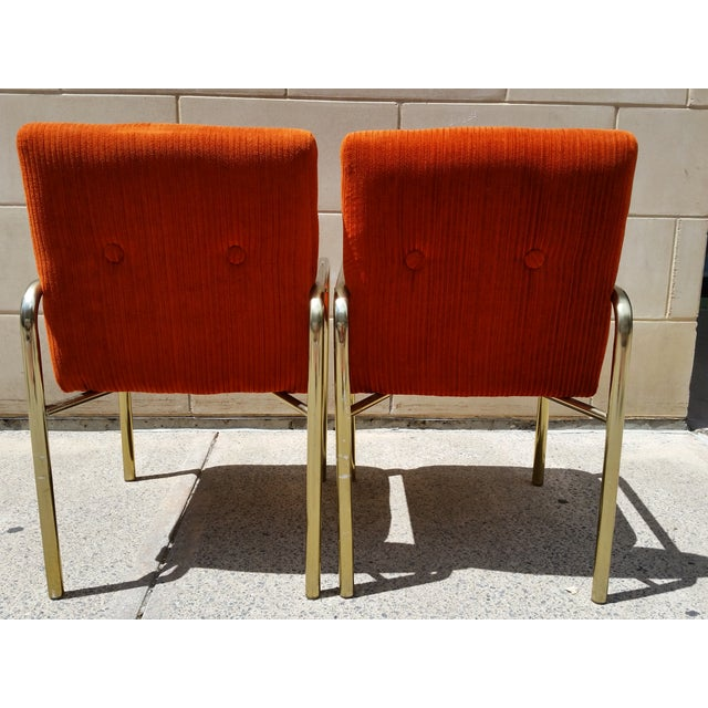 1980 Daystrom Orange Reception Chairs - a Pair - Image 4 of 7