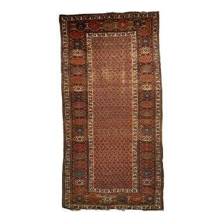 "19th Century Kurdish Tribal Antique Carpet With Allover Design 3' 3' X 6' 1"" For Sale"