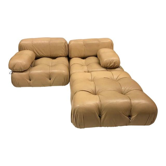 B&b Italia Camaleonda Mario Bellini All Leather Modular Sectional Sofa 3 Pieces For Sale