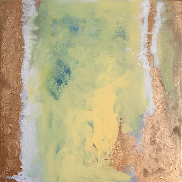 Abstract Julia Contacessi, Salt and Sandstone Painting, 2014 For Sale - Image 3 of 3