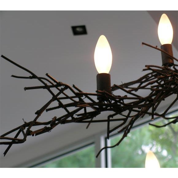 Monumental Twig Plaster Chandelier For Sale In New York - Image 6 of 8