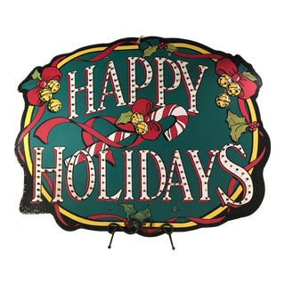 Vintage Happy Holidays Lighted Sign