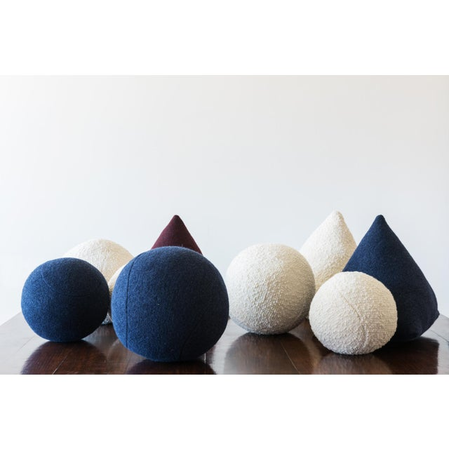 Architectural Pillows by Hunt Modern in Textural Wools For Sale In Santa Fe - Image 6 of 10