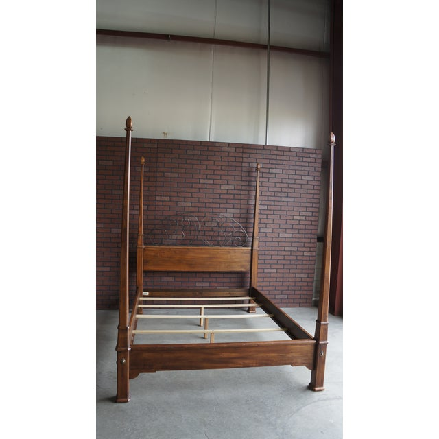 Ethan Allen Old World Treasures Queen 4 Post Bed For Sale - Image 9 of 10