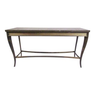 Vintage Modern Decorator Style Console Table For Sale