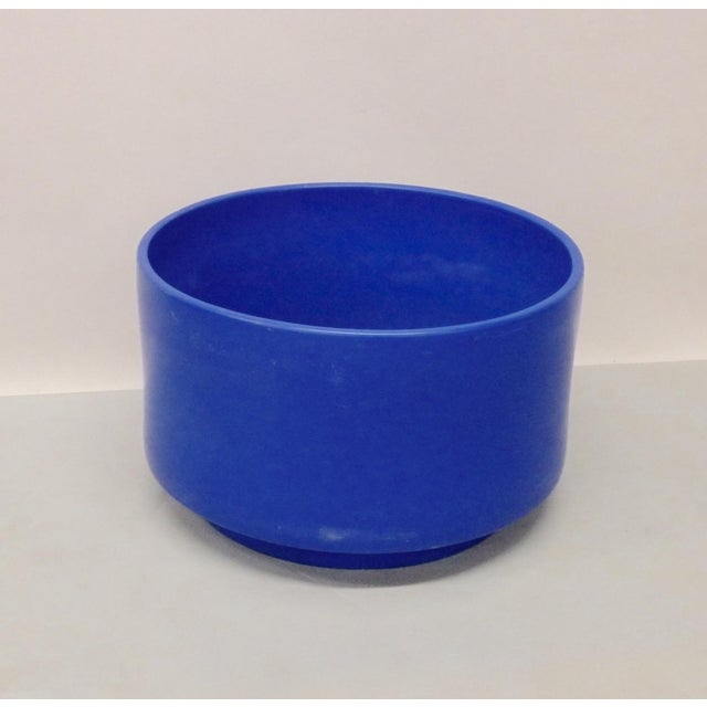 Mid-Century Modern Rare Large Size Blue Glaze Gainey California Planter Pot For Sale - Image 3 of 9