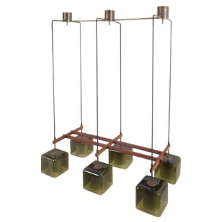Green Glass Ceiling Lamp by Carl Fagerlund for Orrefors For Sale