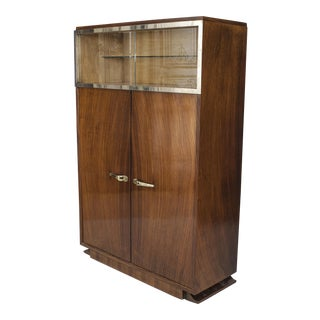 French Art Deco Rosewood Vitrine/bar Cabinet For Sale