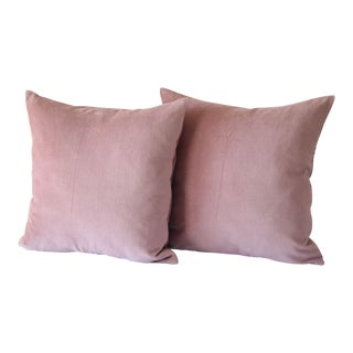 Velvet Rose Decorative Pillow Covers - A Pair For Sale