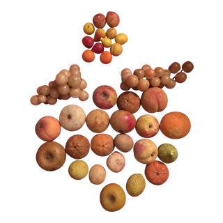 1930s Vintage Marble Fruit - 35 Pieces For Sale