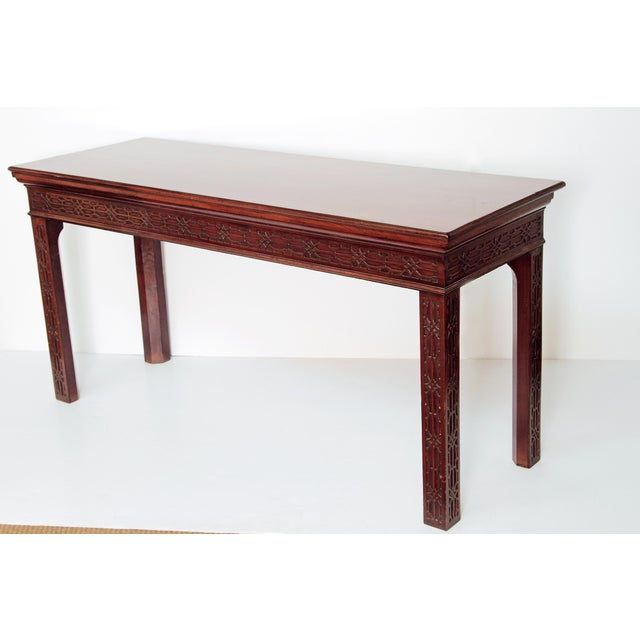 Chippendale George III Mahogany Side/Serving Table For Sale - Image 3 of 10