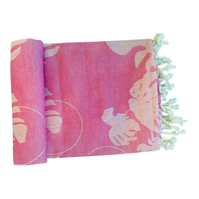 'Rio' Fuchsia Cotton Throw/Towel - Image 1 of 6