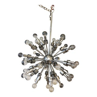 Mid-Century Modern Motoko Ishii Sputnik 46 Lights Hanging Lamp For Sale