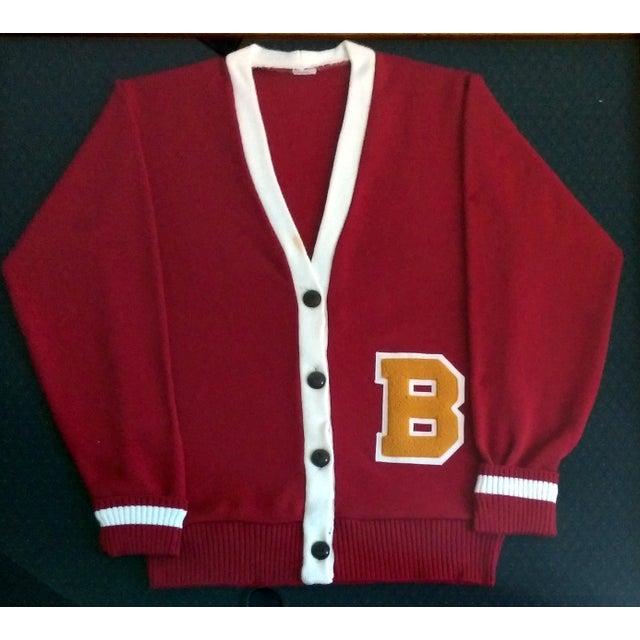 """Framed Varsity Letterman's """"B"""" Sweater - Image 2 of 9"""