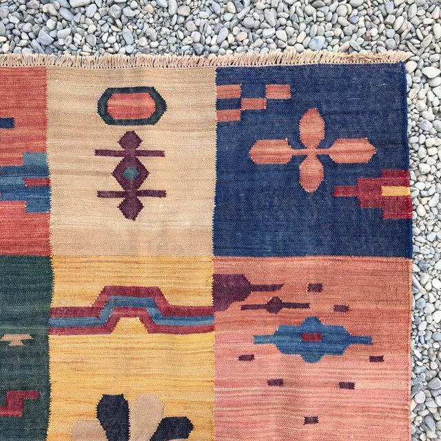 Vintage Hand Loomed Flatweave Southwest Boho Modern Rug - 5x7 For Sale - Image 5 of 6