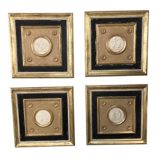 Louis XVI Four Seasons Plaques - Set of 4 For Sale