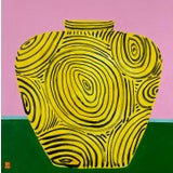 "Image of ""Yellow Vase"" Original Acrylic Painting For Sale"