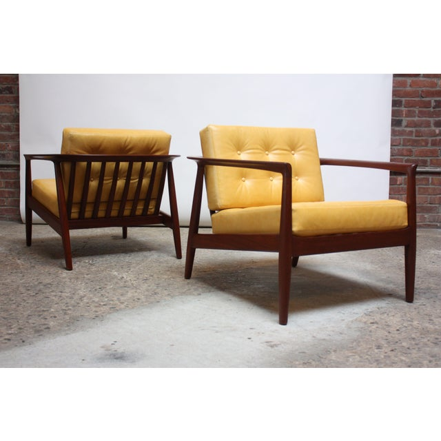 Folke Ohlsson for Dux Swedish Modern Leather and Teak Lounge Chairs- A Pair For Sale - Image 13 of 13