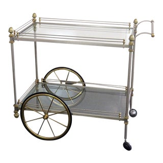 Mid 20th Century Regency Style Bar Cart For Sale
