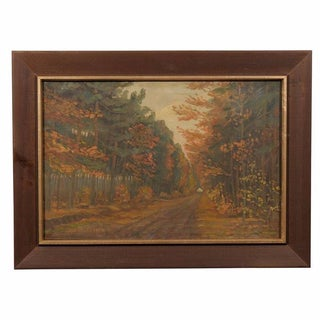 Framed Dutch Impressionist Autumn Landscape