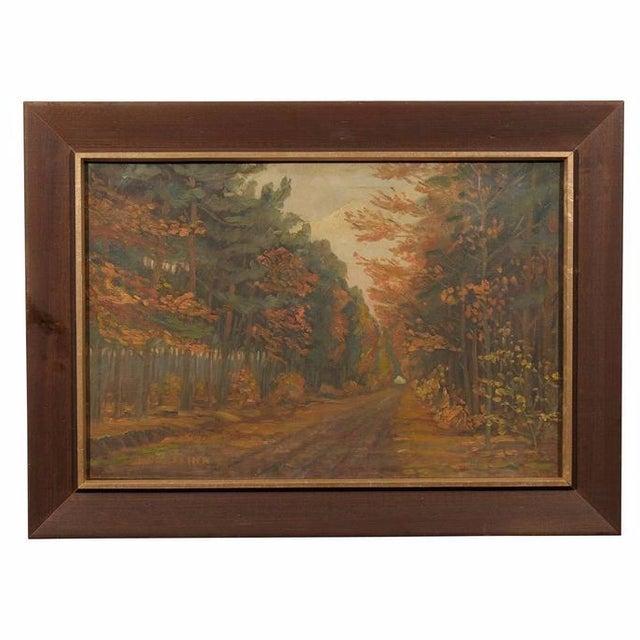 Framed Dutch Impressionist Autumn Landscape For Sale