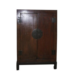 Antique Chinese Ming Style Lacquer Cabinet For Sale
