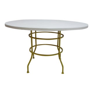 1970s Vintage Mid Century Patio Dining Table For Sale