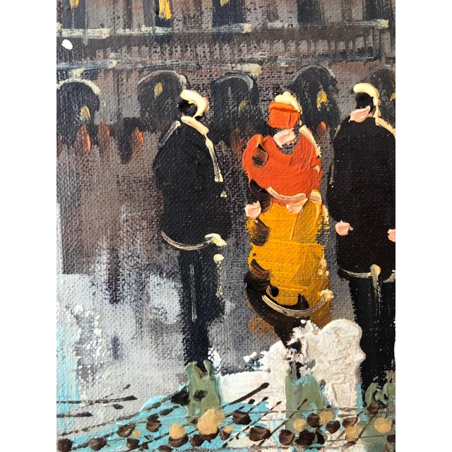 """1950s """"Paris Opera House"""" Oil Painting by French Artist Soiret For Sale - Image 5 of 9"""