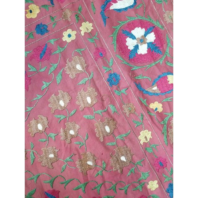 Vintage Turkish Bokara Suzani Blanket For Sale - Image 10 of 11