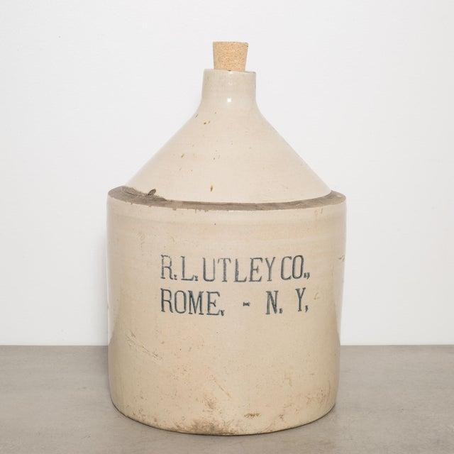 Ceramic Antique Stoneware Jug C.1900 For Sale - Image 7 of 7