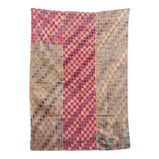 Vintage Embroidered Wedding Quilt Fabric For Sale