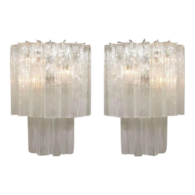 Murano Waterfall Sconces - A Pair For Sale