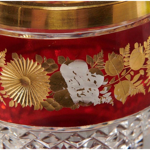 Late 19th Century Ruby & Parcel-Gilt Bohemian Glasses - Set of 12 For Sale - Image 4 of 8