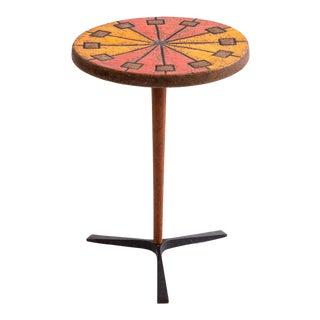 Aldo Londi Bitossi Ceramic Side Table For Sale