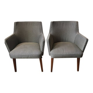 Vintage Jens Risom Style Armchairs- A Pair For Sale