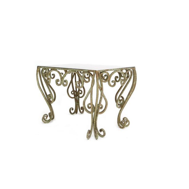 Neoclassical Revival Wrought Iron Coffee Table For Sale - Image 3 of 7