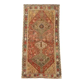 Vintage Persian Shiraz Rug, 03'09 X 07'02 For Sale