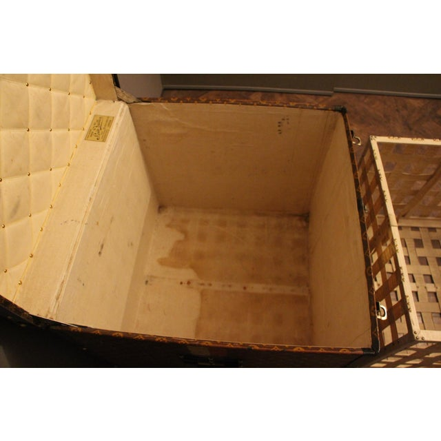 Louis Vuitton Cube Steamer Trunk For Sale - Image 9 of 13