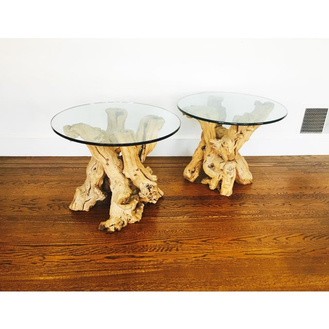 Vintage Grape Vine Side Tables - a Pair - Image 3 of 6