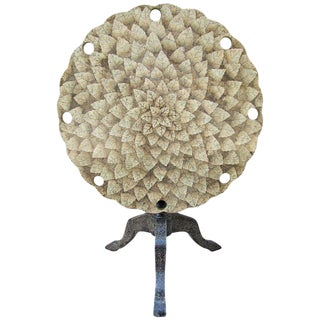 Organic Modern Eggshell Tilt-Top Table