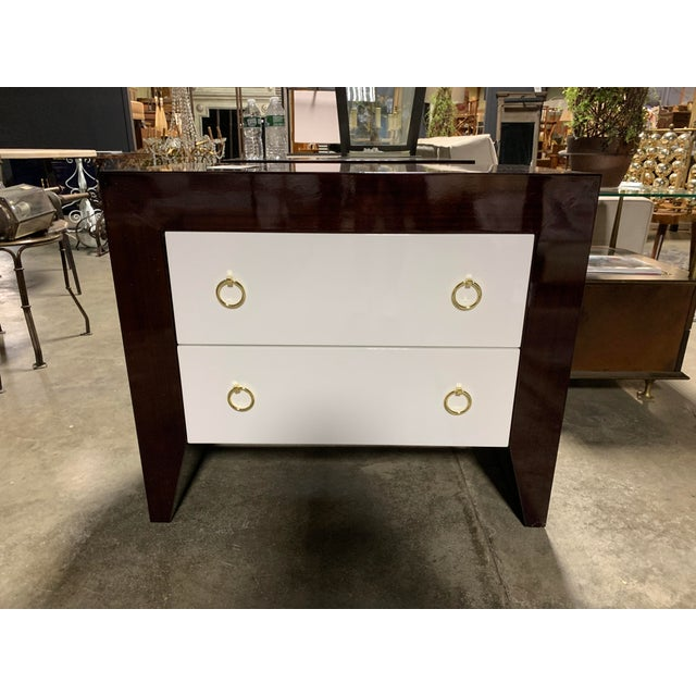 Worlds Away Worlds Away Rosewood & White Lacquer Nightstand For Sale - Image 4 of 5