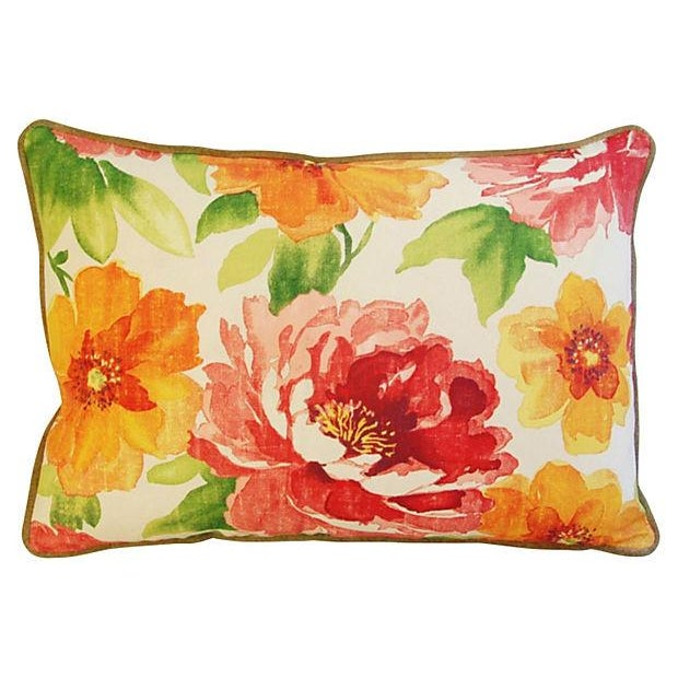Jewel-Tone Floral Lumbar Pillows - A Pair - Image 5 of 8