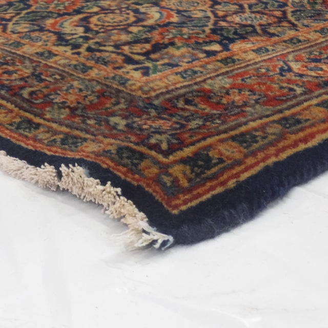"Heraty Navy Blue Runner- 2'8"" x 9'9"" For Sale - Image 4 of 4"