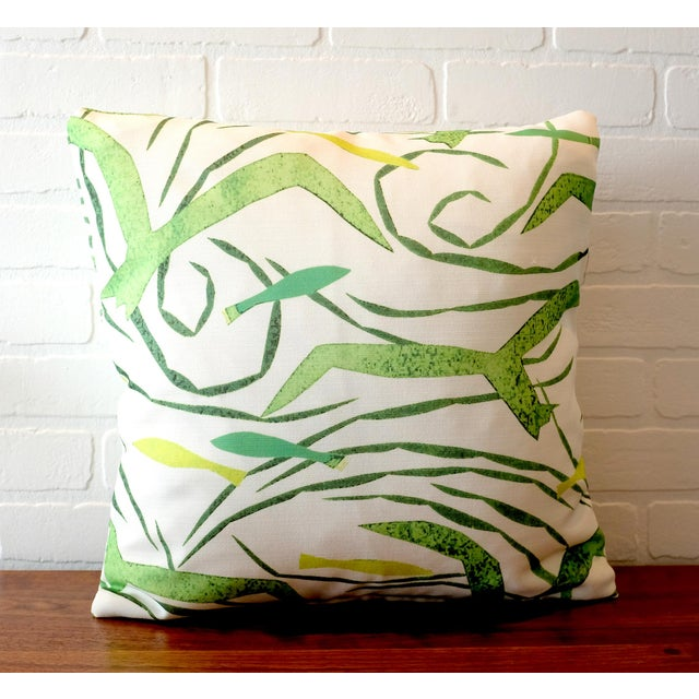 Contemporary Donghia Italian Tropical Pattern Pillow Covers - A Pair For Sale - Image 3 of 5