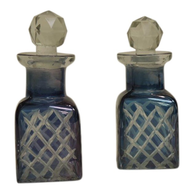 Antique French Crystal Perfume Bottles - A Pair - Image 1 of 4