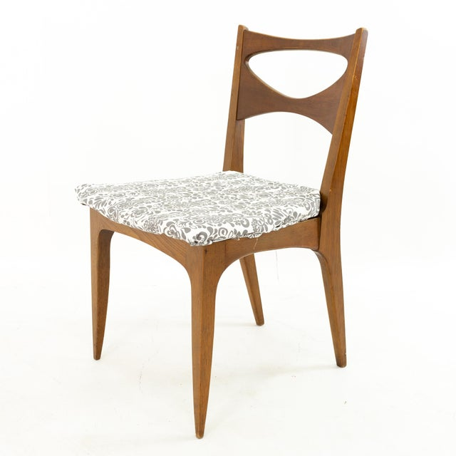 John Van Koert for Drexel Profile Mid Century Walnut Dining Chairs - Set of 4 For Sale - Image 9 of 13