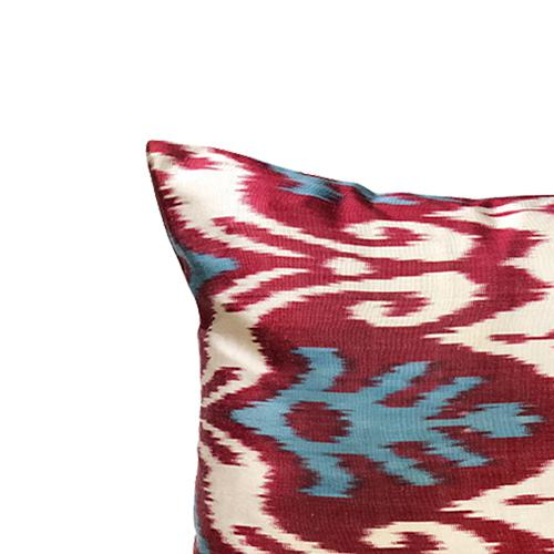 Islamic Kim Salmela Modern Turkish Silk Ikat Lumbar Pillow For Sale - Image 3 of 4