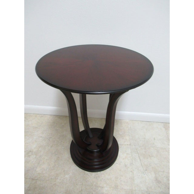 Bombay Company Cherry Bird Cage End Table For Sale - Image 11 of 11