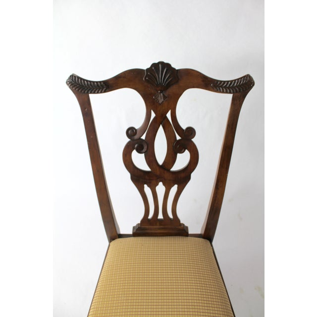 Brown Chippendale Style Dining Chairs - Set of 8 For Sale - Image 8 of 11